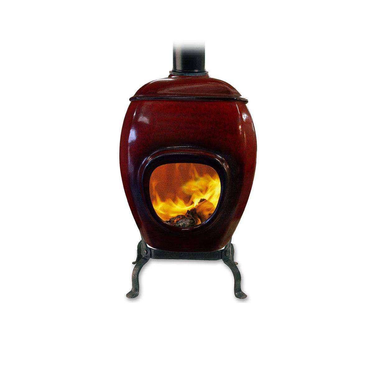 earthfire ceramic fireplace
